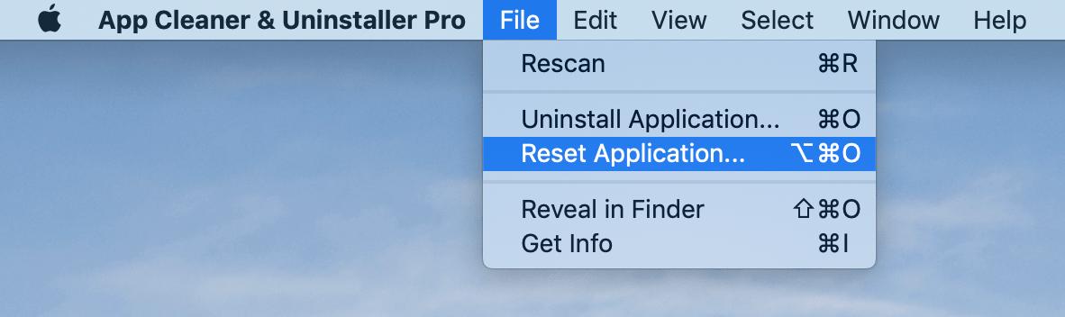 reset app by app cleaner & uninstaller