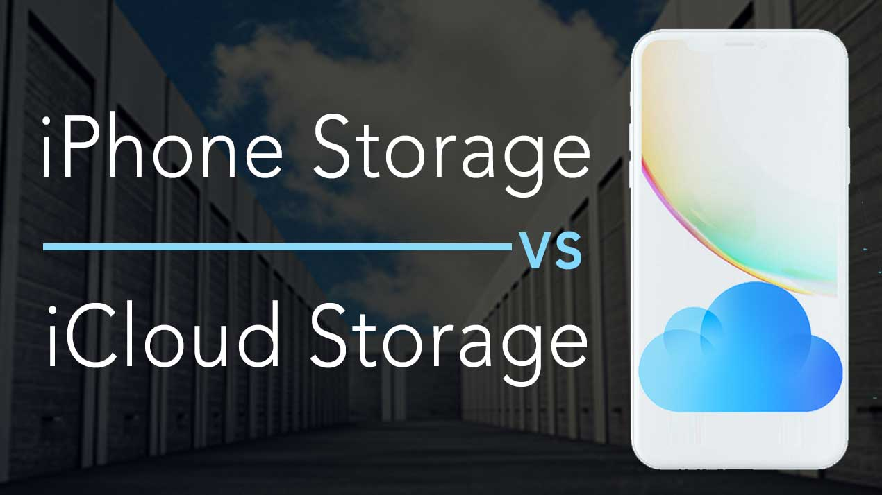 use icloud storage instead of phone storage