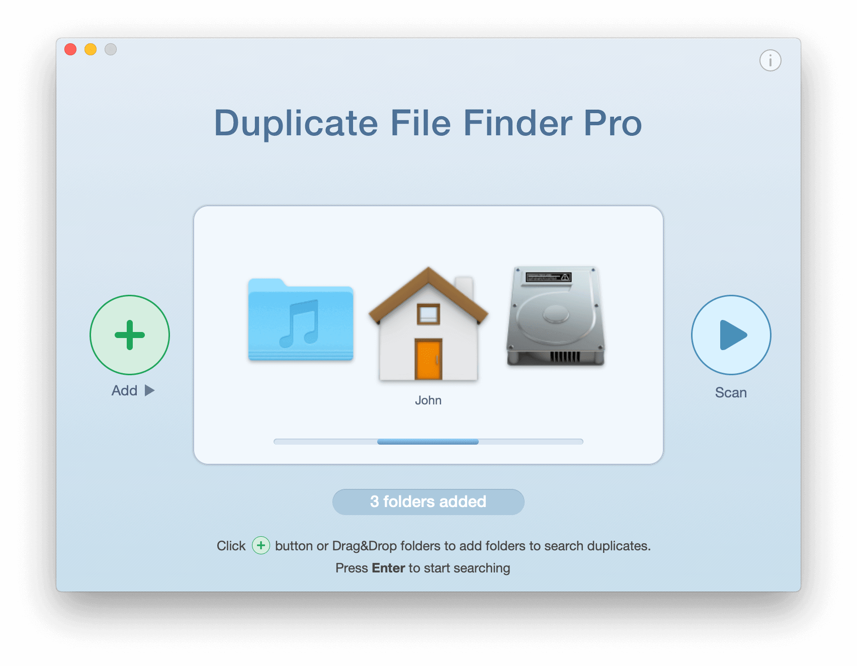 Duplicate File Finder start