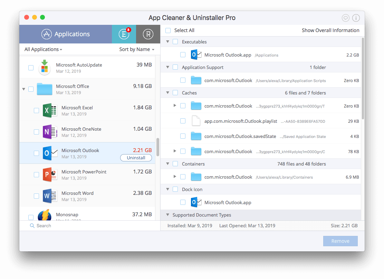 Uninstall Outlook on Mac