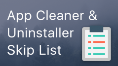 Exclude application for uninstalling <br/>in App Cleaner & Uninstaller