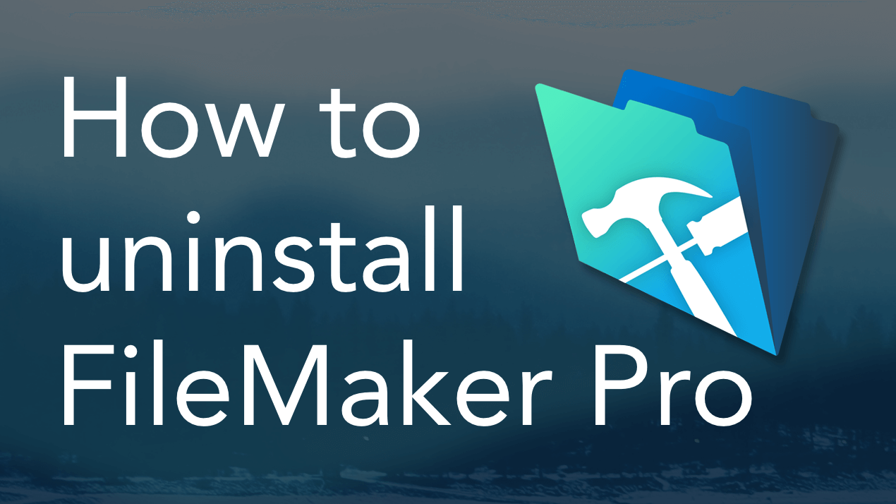 How to Uninstall FileMaker Pro