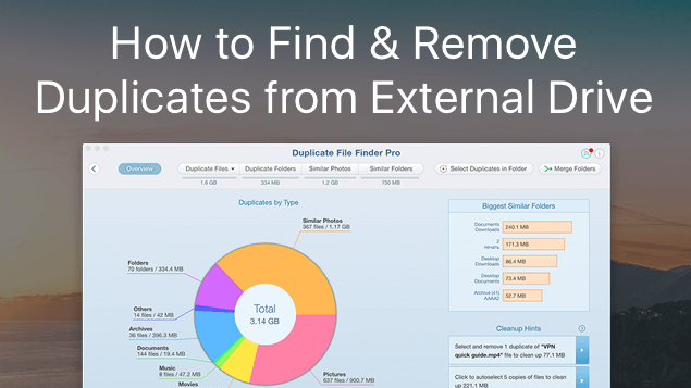 How to find duplicate files on external hard drive