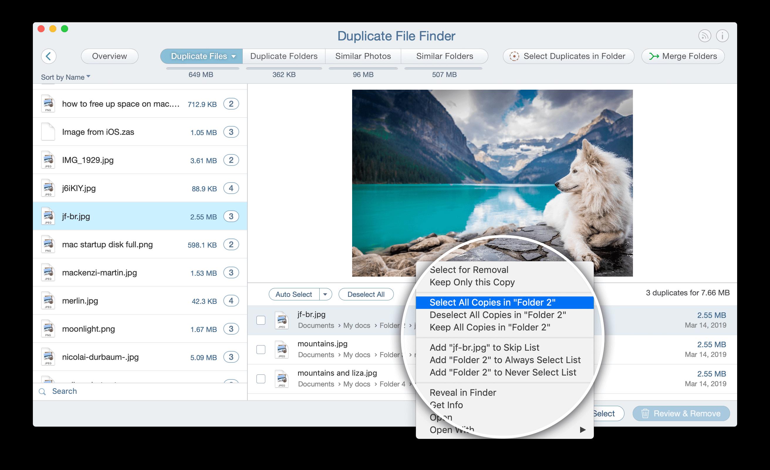 remove duplicate files computer