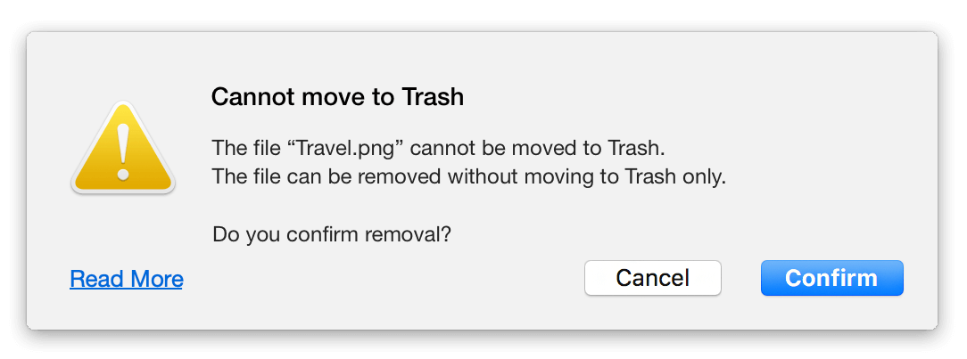 not move trash