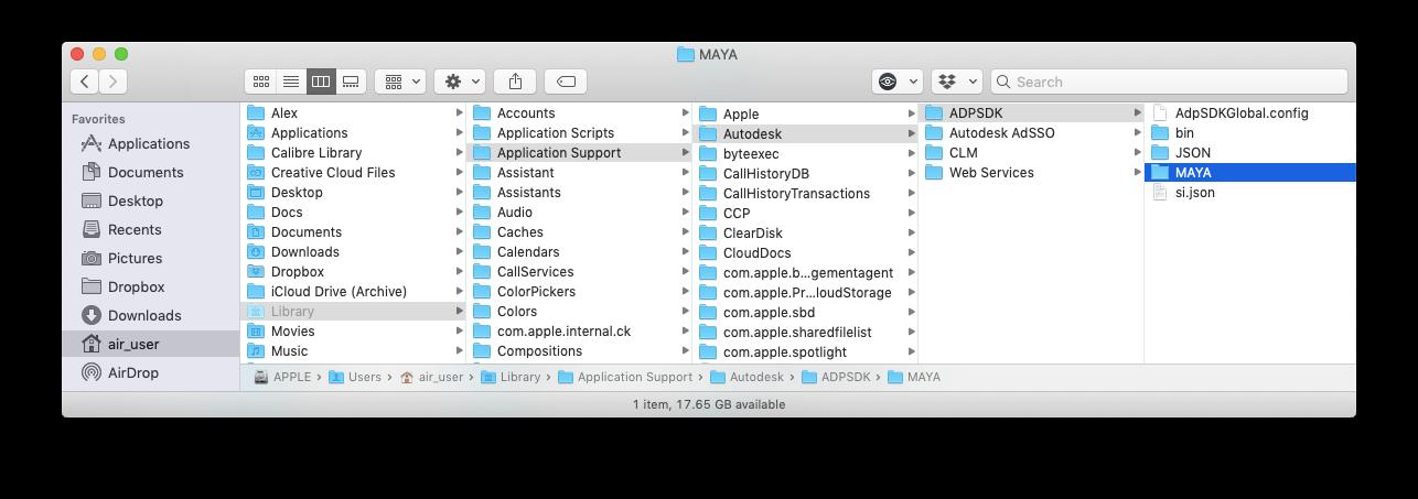 remove maya on mac library
