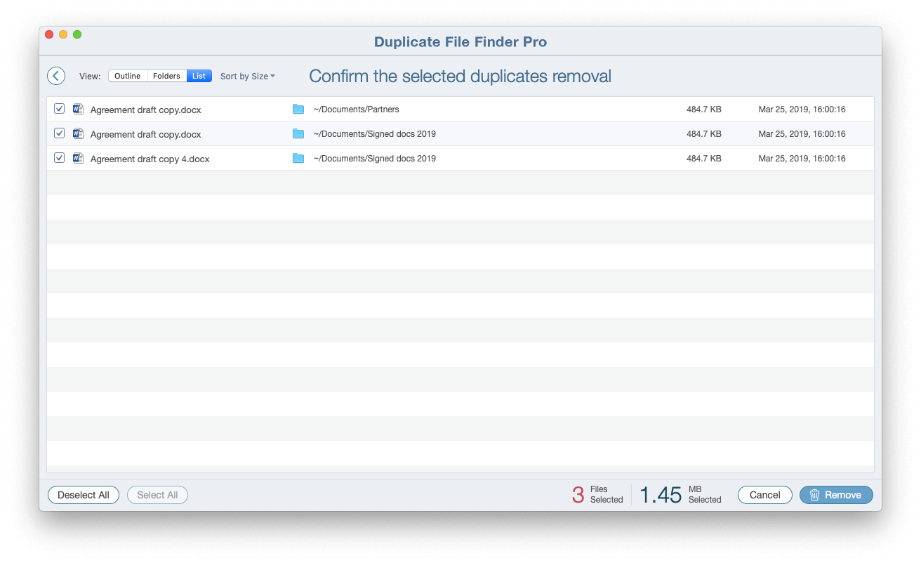 app to remove duplicate files on mac