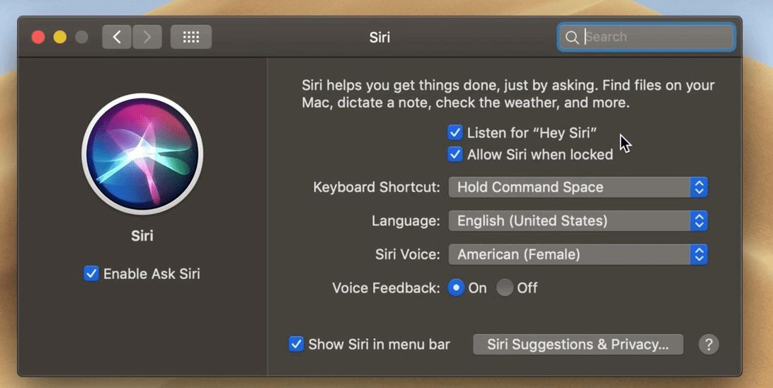 apple mac siri