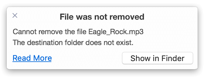 files not remove