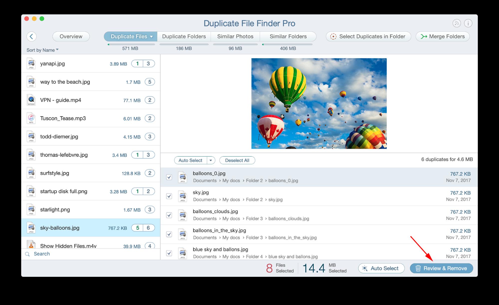 find duplicate files on mac