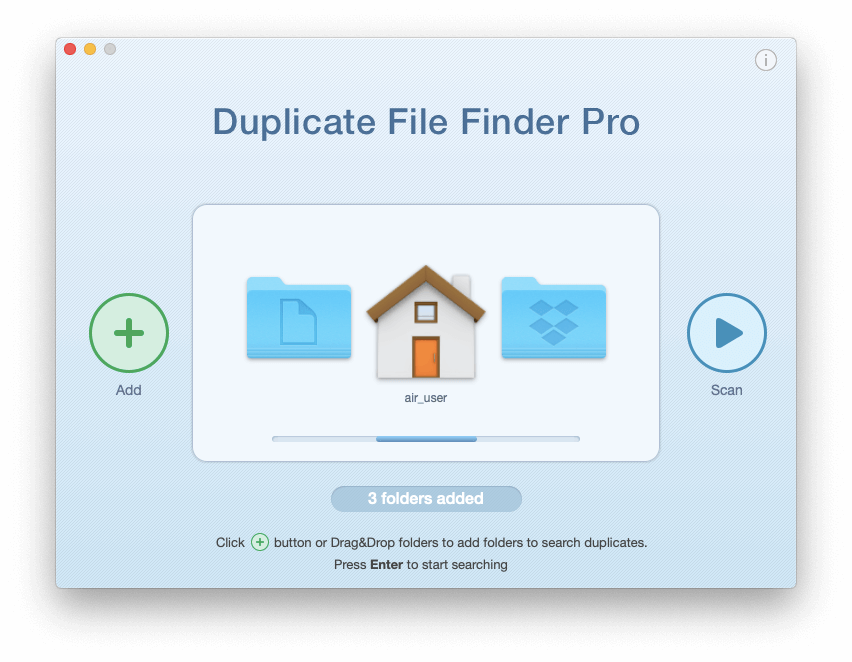 Duplicate File Finder start window