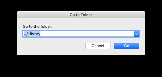 go to folder search field