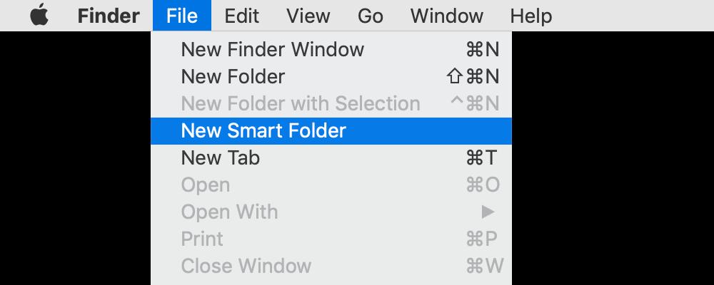new smart folder