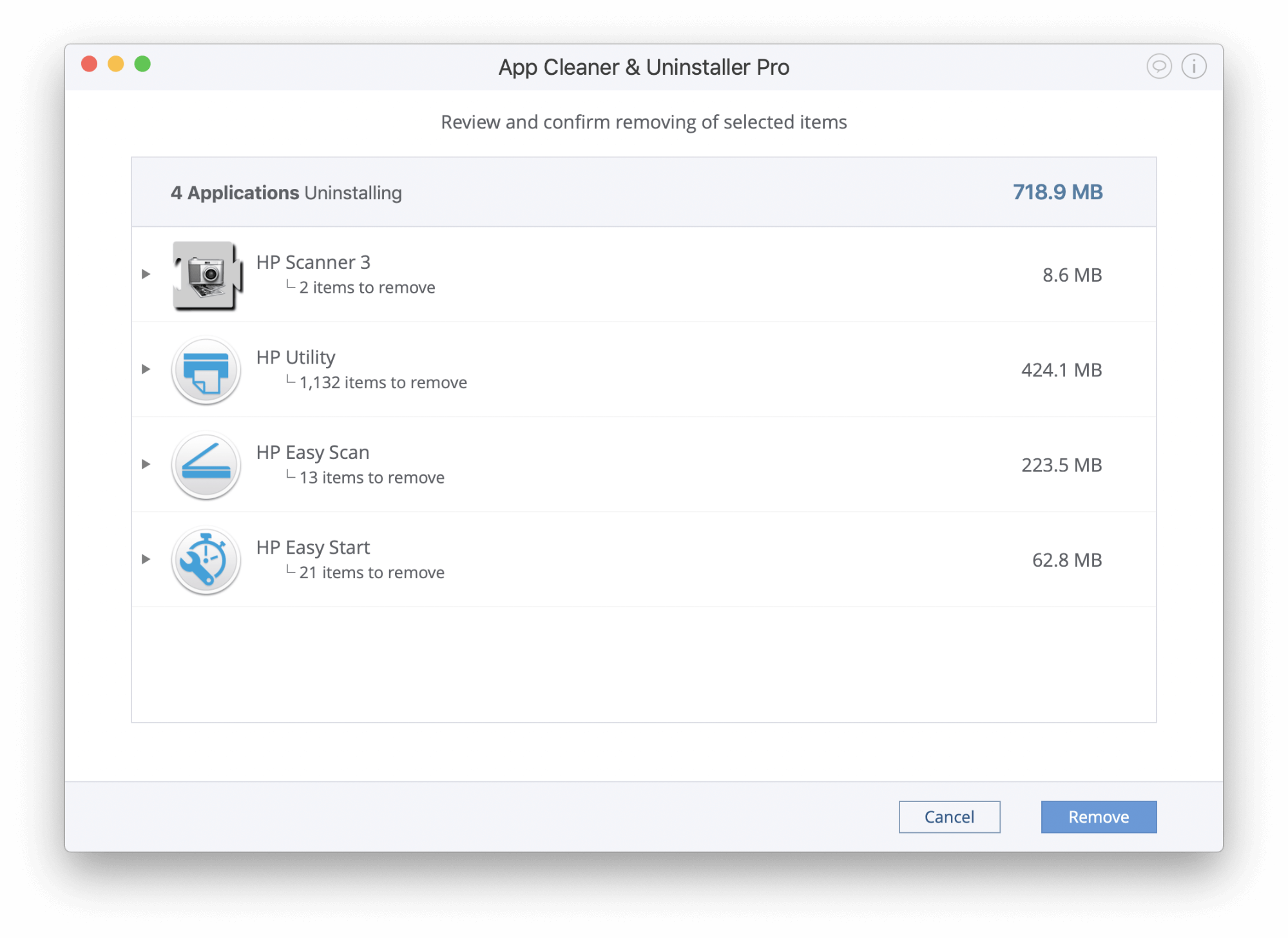printer uninstallation from mac