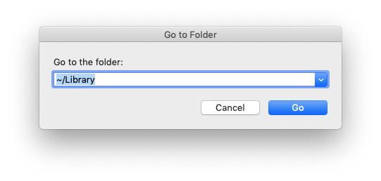 Go to Library folder in Finder