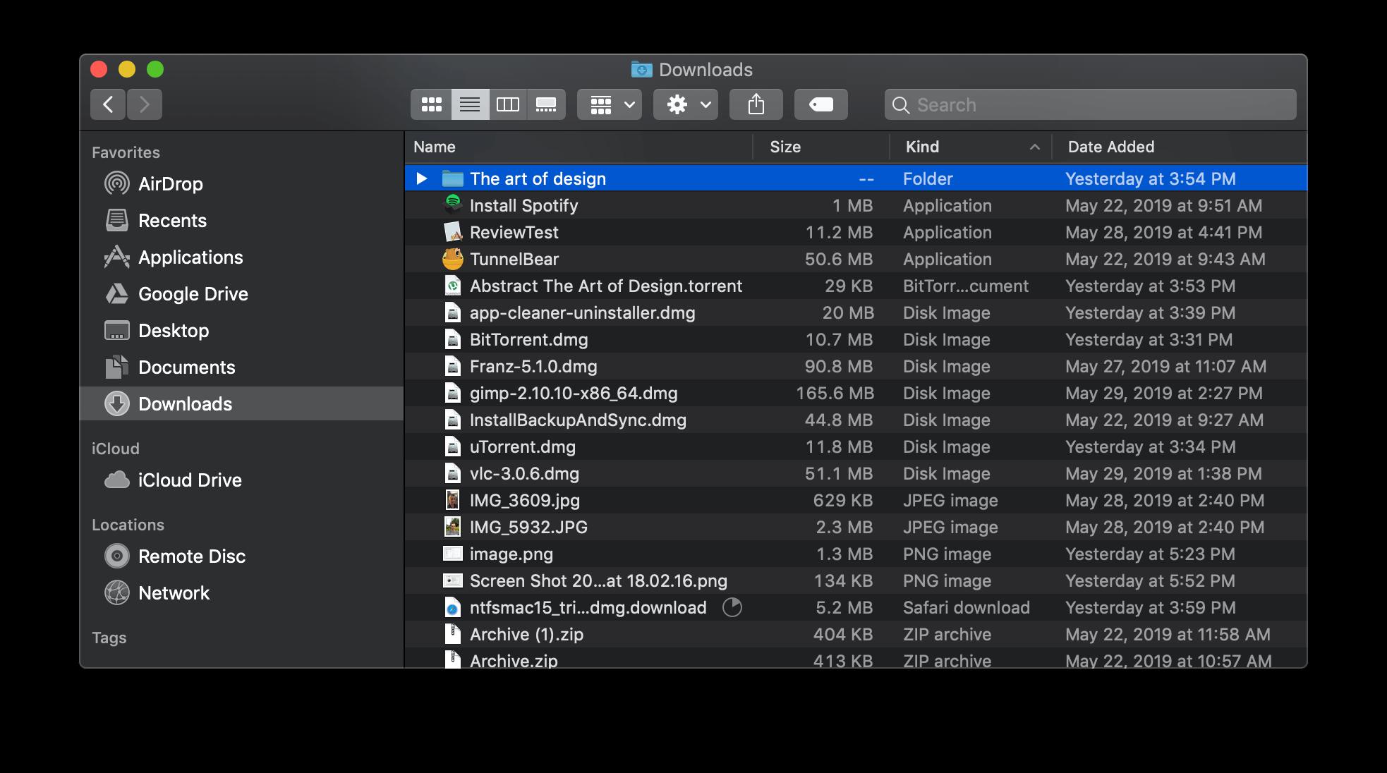 clear downloads folder