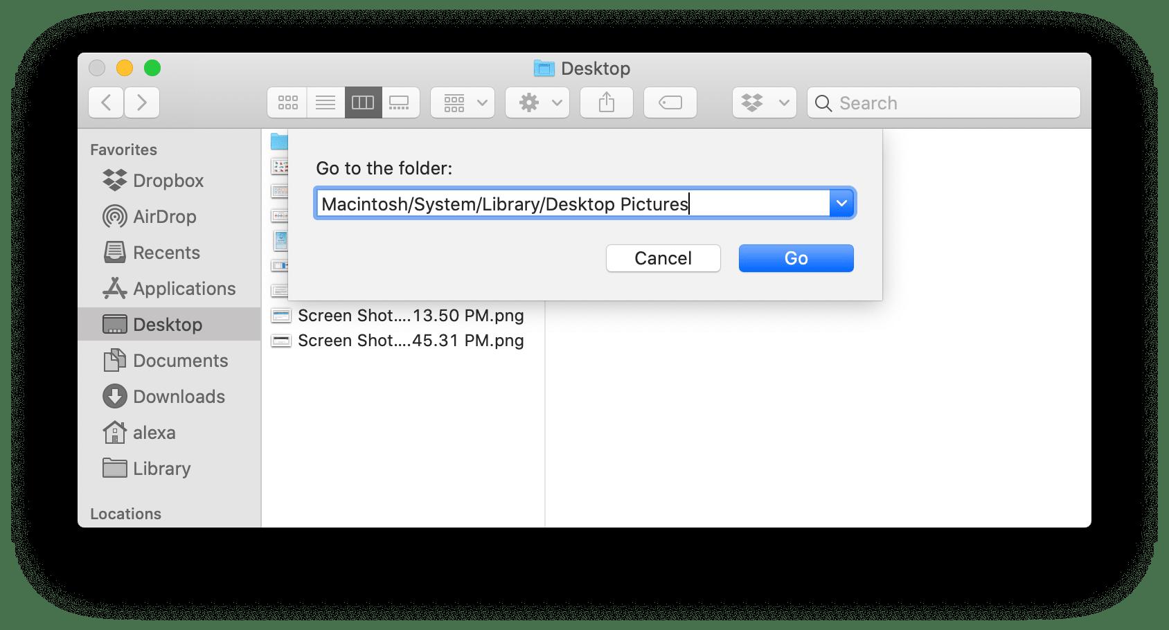 mac desktop picture