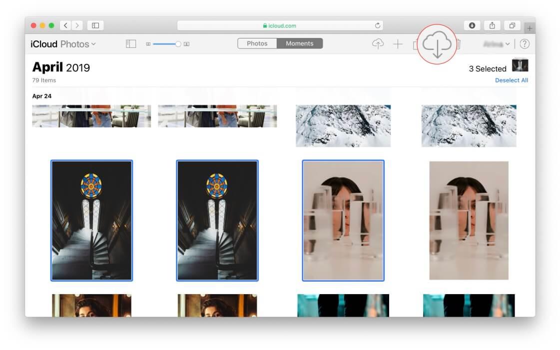iCloud - download photos
