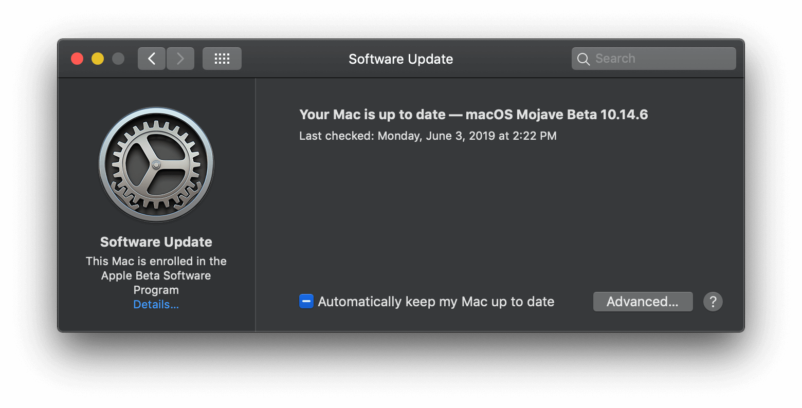 check software update