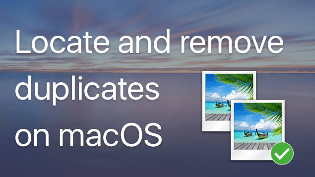 remove duplicate files on macOS