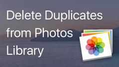 How to remove duplicate pictures from Photos Library