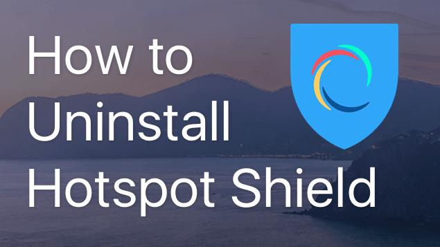 uninstall hotspot shield