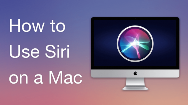 use siri on mac