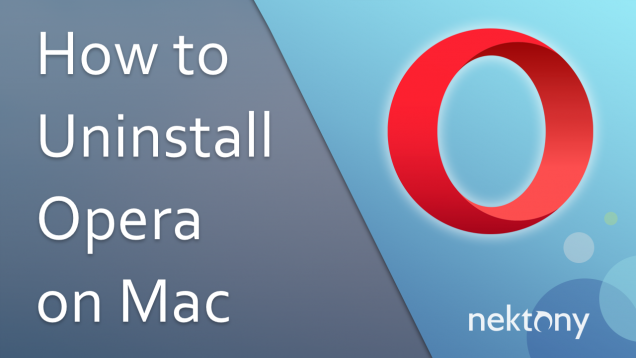 Uninstall Opera on mac