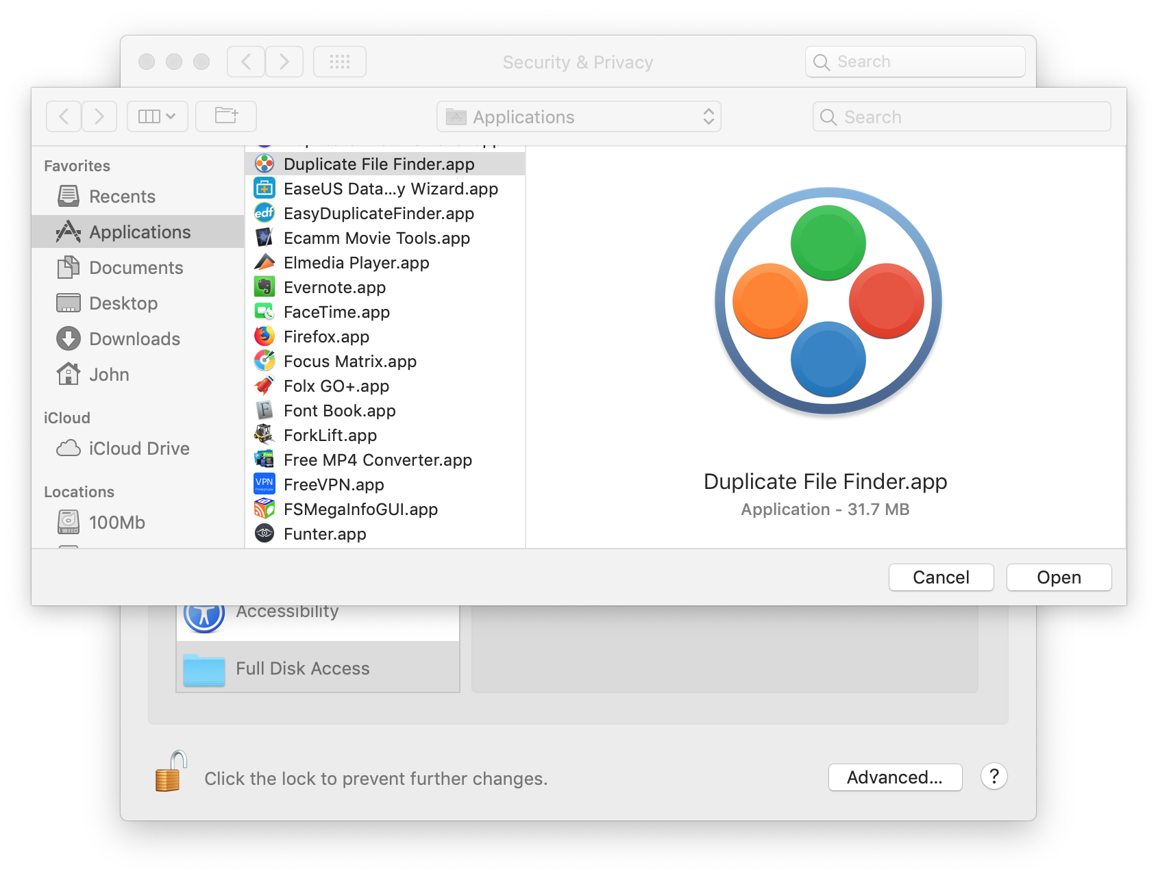applications folder on mac