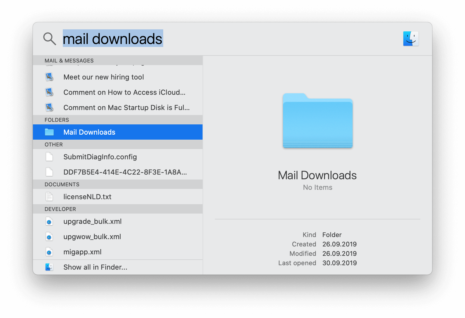 Delete mail downloads on mac