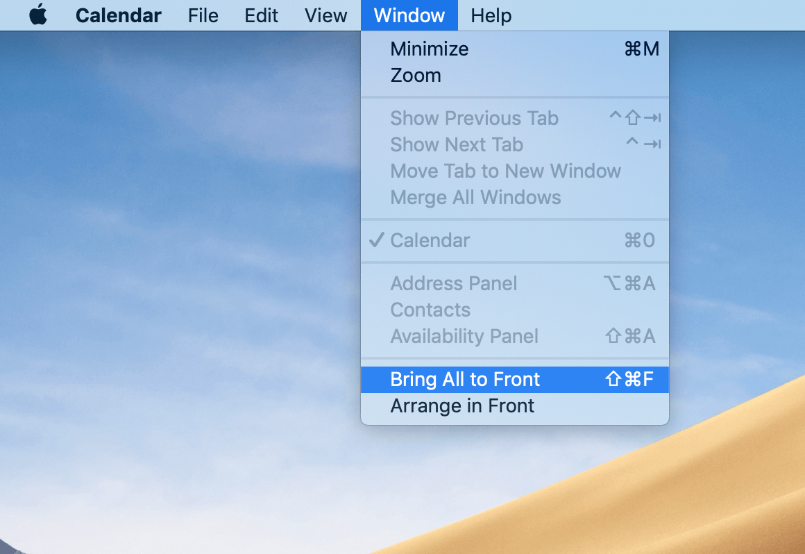 delete shortcut mac