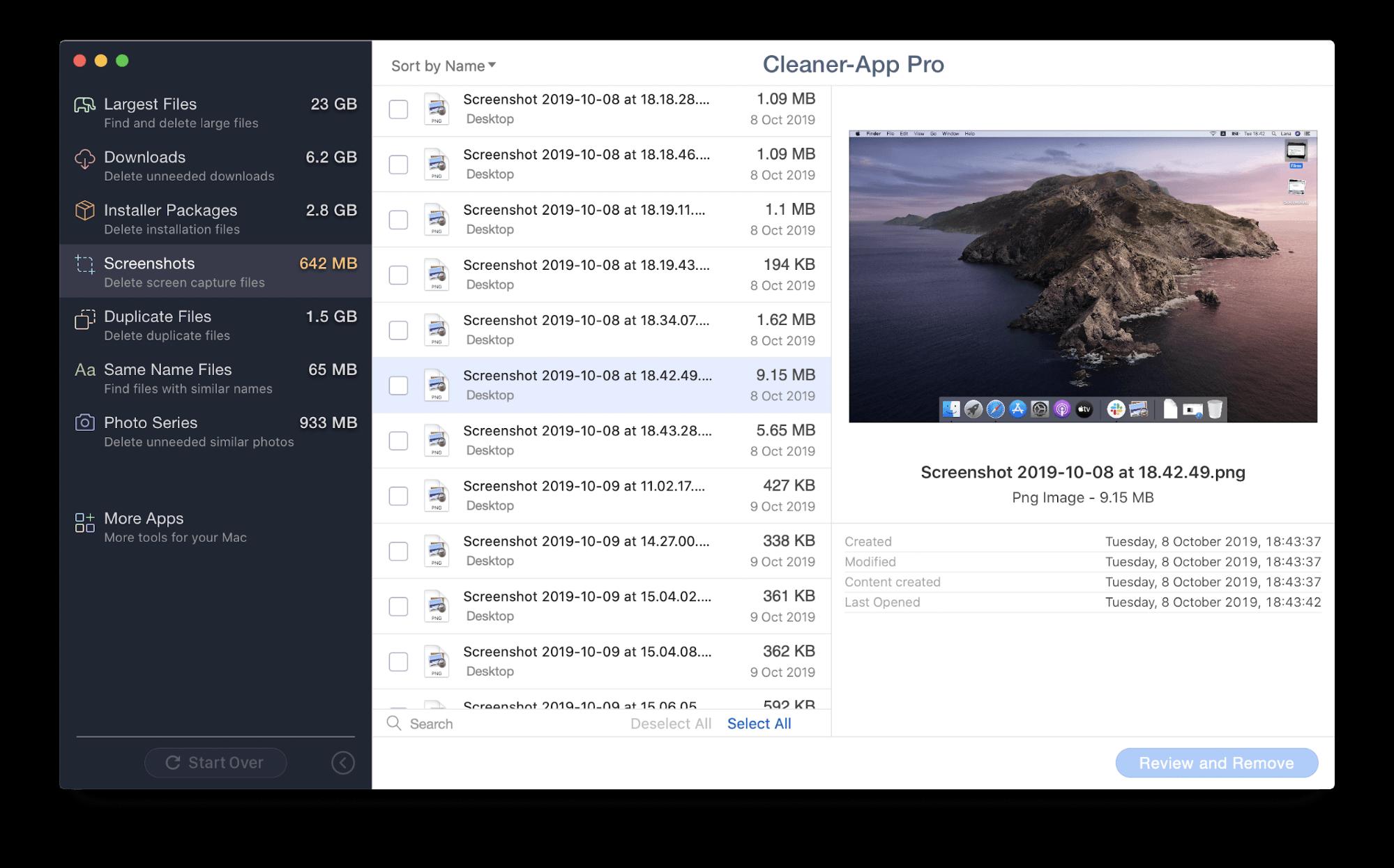 how to remove screenshots on mac