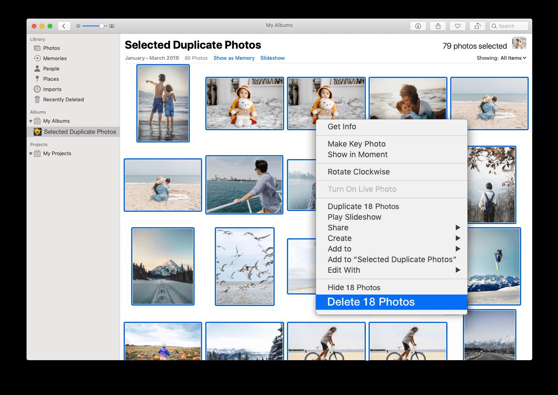 delete duplicate photos in icloud