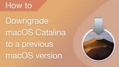 how to downgrade macOS