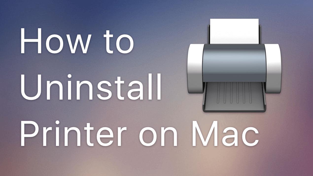 uninstall printer on mac