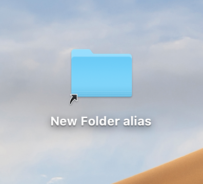 folder alias icon on desktop