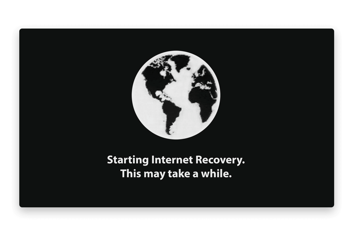 Starting Internet Recovery message