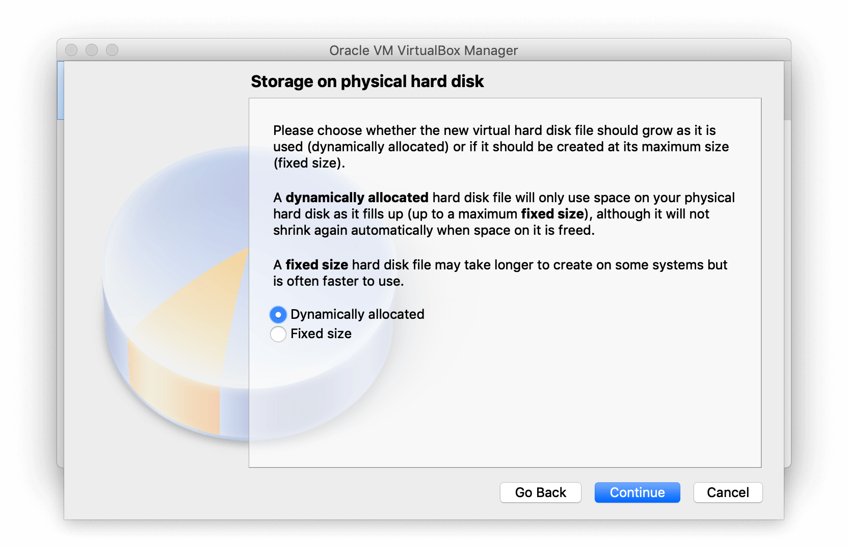 Storage on Physical hard disk section of VirtualBox Manager