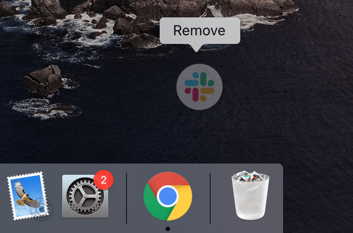 how to remove apps from dock
