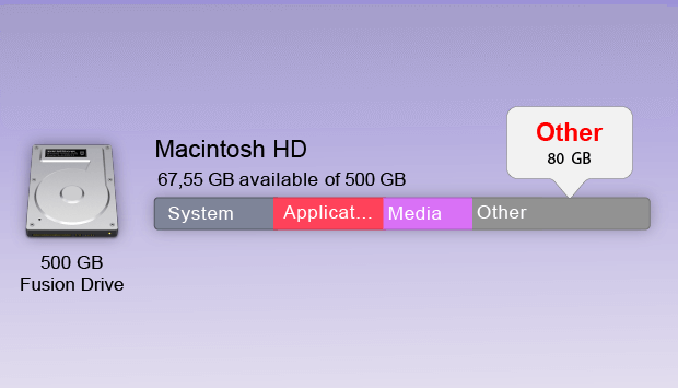 other storage on macOS Catalina