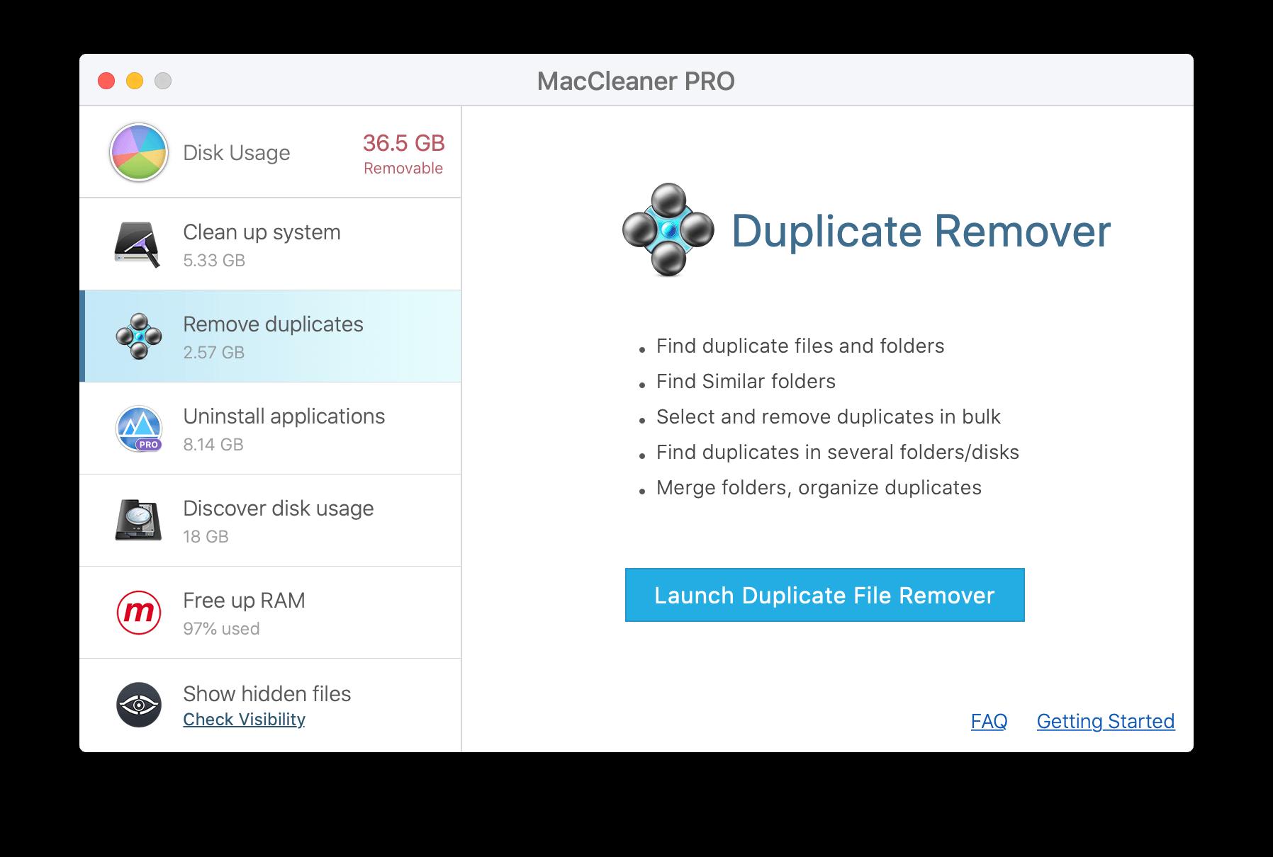 speed up mackbook - delete duplicates