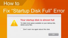 startup disk full fix error