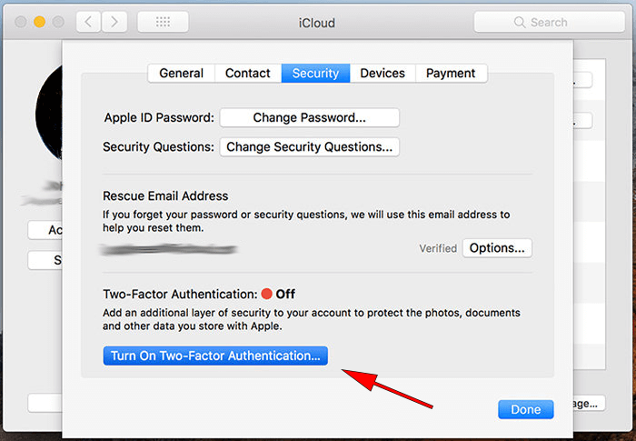 two step authentication apple