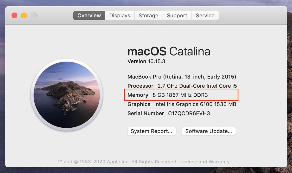 how to check memory usage on mac
