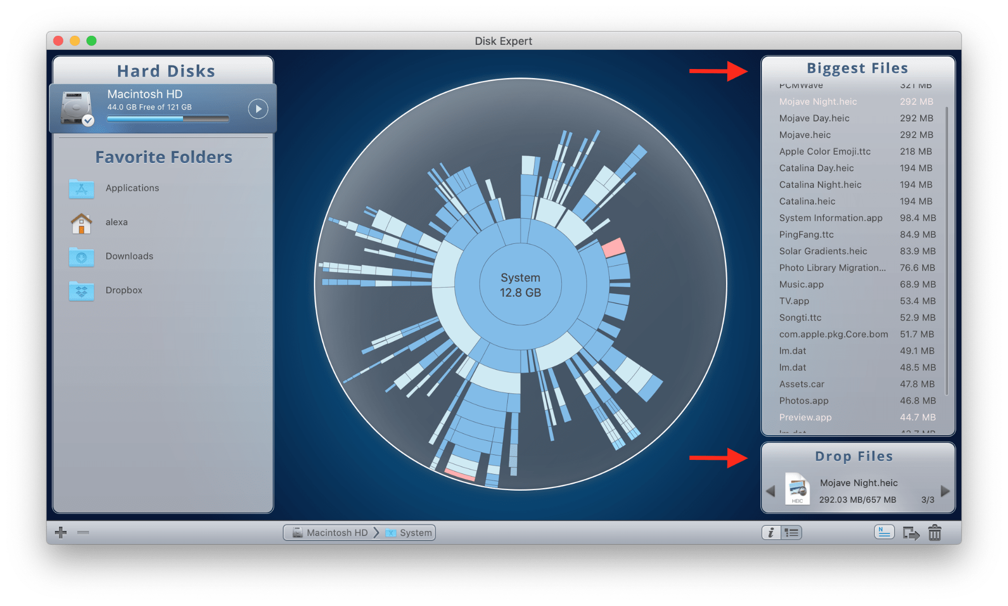 how to see disk space on mac