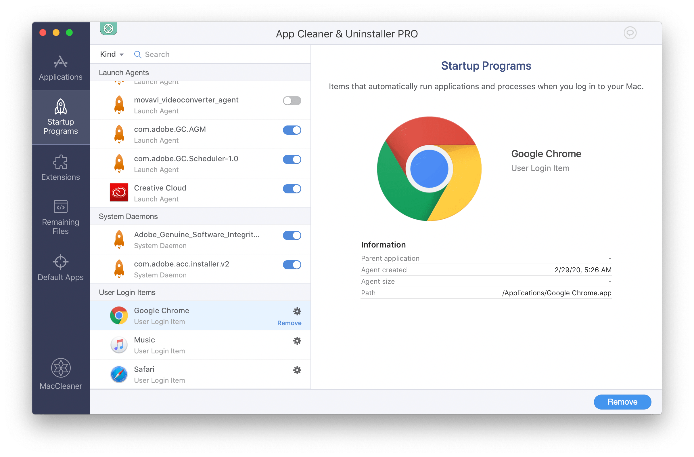 chrome mac startup