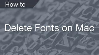 remove duplicate fonts mac