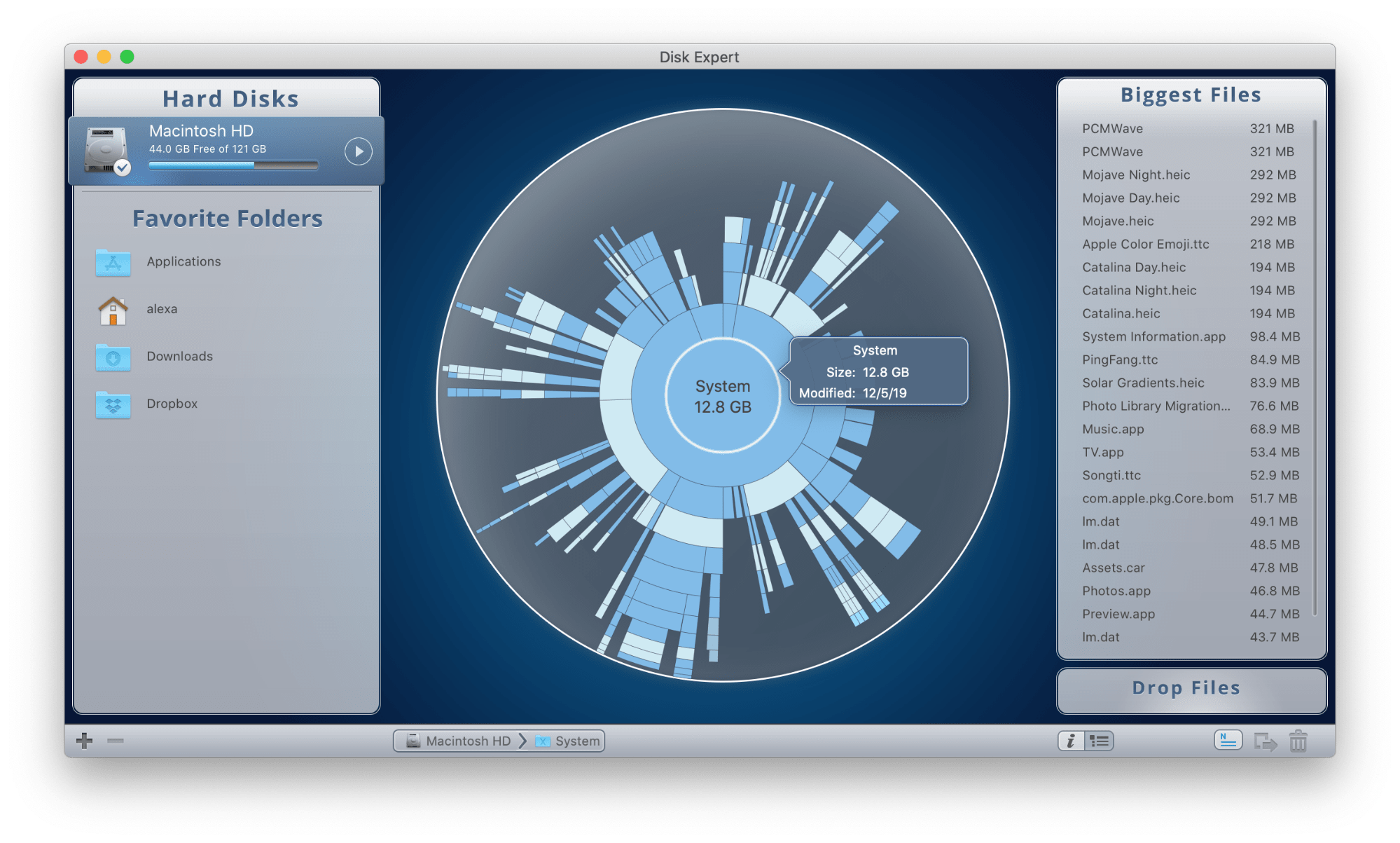 how to find mac disk space