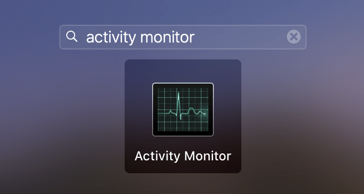 Activity Monitor application in Launchpad