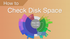 how to сheck disk space on mac